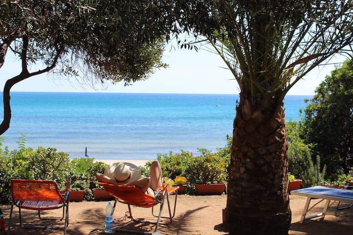 Small  house in front of the beach (Sardinia)