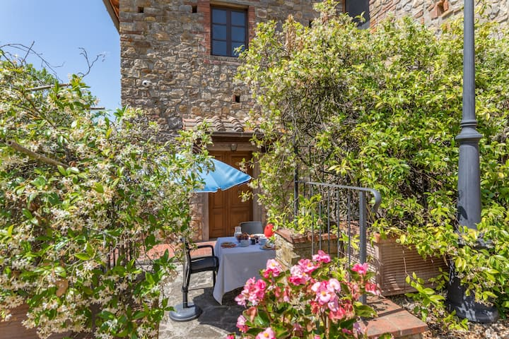 Relax in farmhouse among the Chianti vineyards
