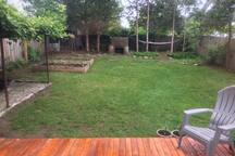 View of backyard from kitchen sink
