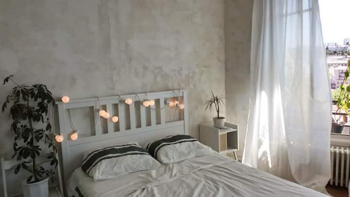 Saint Etienne: appartement vintage avec vue