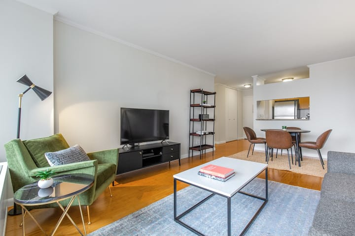 Ideal Midtown 2BR w/ Pool, Gym, Roof Deck, nr. Broadway, by Blueground