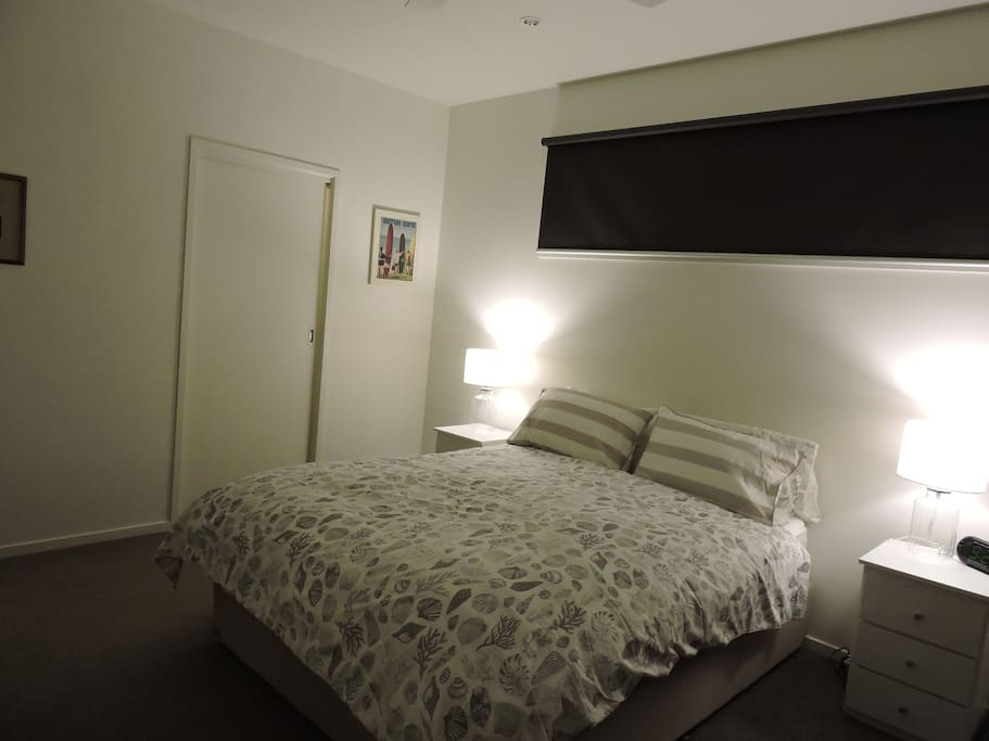 The main bedroom with an ensuite.