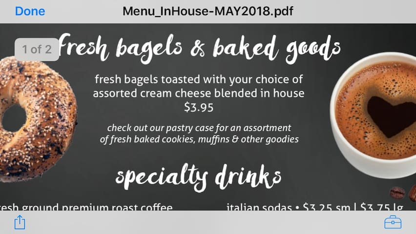 Yummy baked goods and good coffee