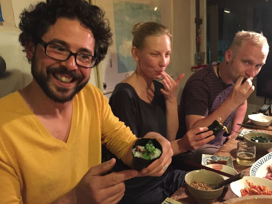 We can teach you how to make traditional Japanese dishes like sushi, just ask.