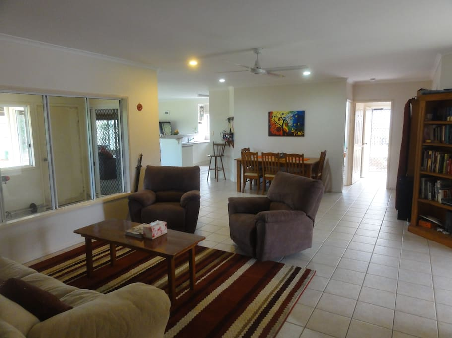 Main living space to dining area