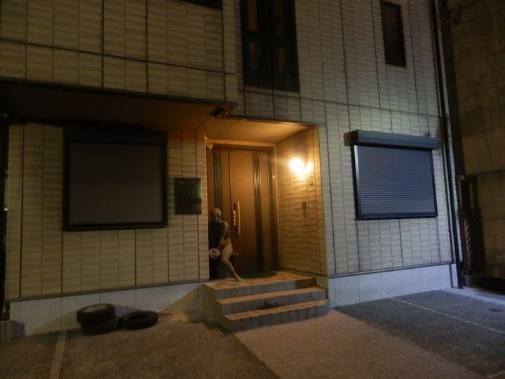 ♥宿.comeすみよか:Room D♥3人部屋、広いトイレ・浴室がバスタブ,キャナルシティ徒歩5分