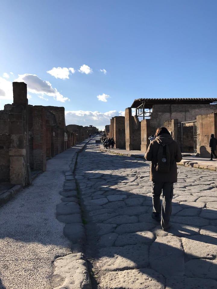 Walking on roman road