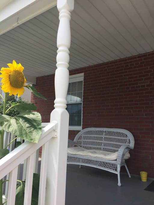 Enjoy swinging or sitting out on the front porch