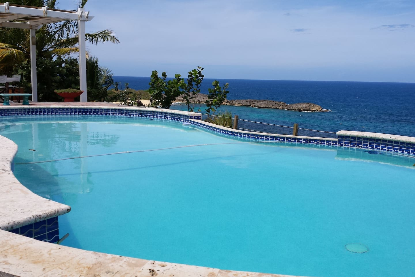 View of the Pool and Atlantic Ocean.