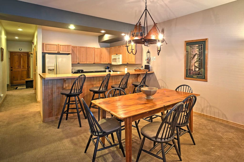 Utilize the fully equipped kitchen for your favorite homemade dinners and desserts.