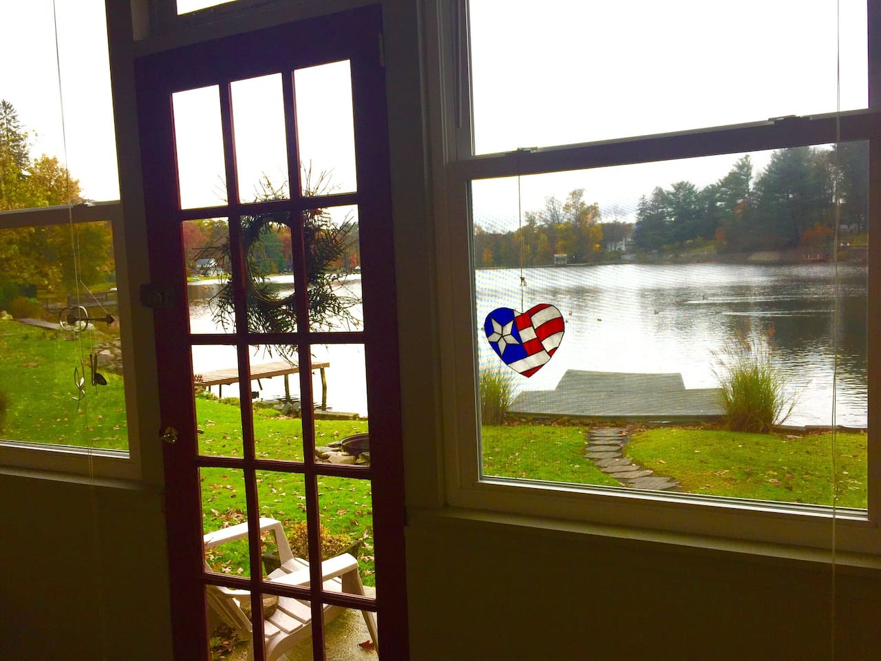 view from the back enclosed porch