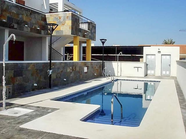 Cosy apartment w/ terrace & pool - Palomares - Apartment