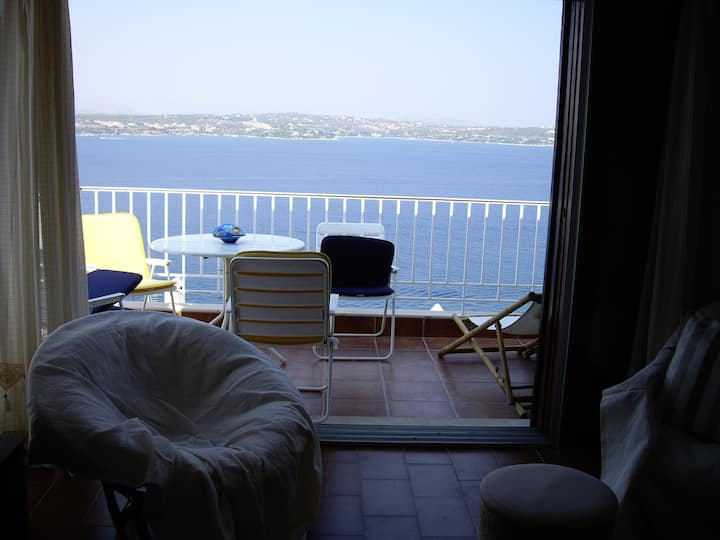Doll house with magical sea view at Spetses island