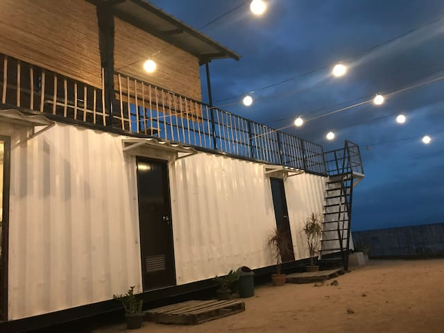 Beach Front Container Van Home Room for 5 pax