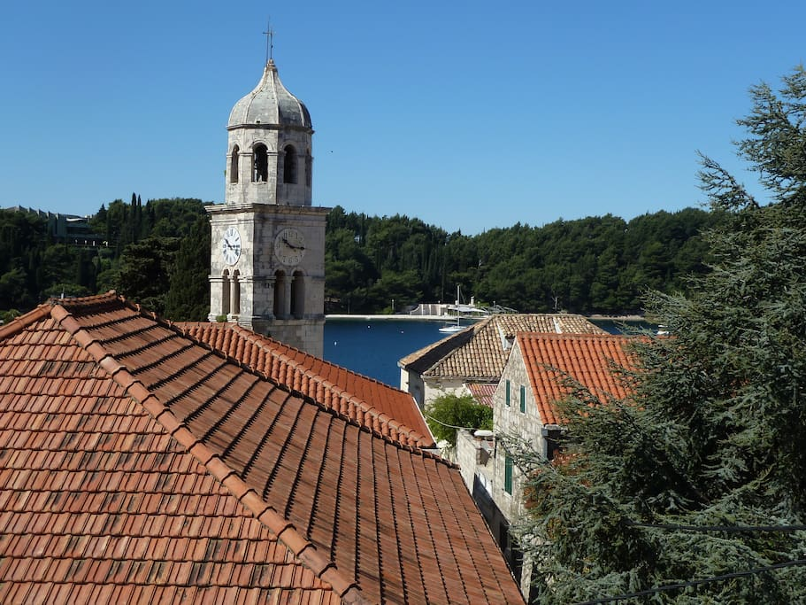 View from second floor bedroom overlooking the St.Nicholas church and bay