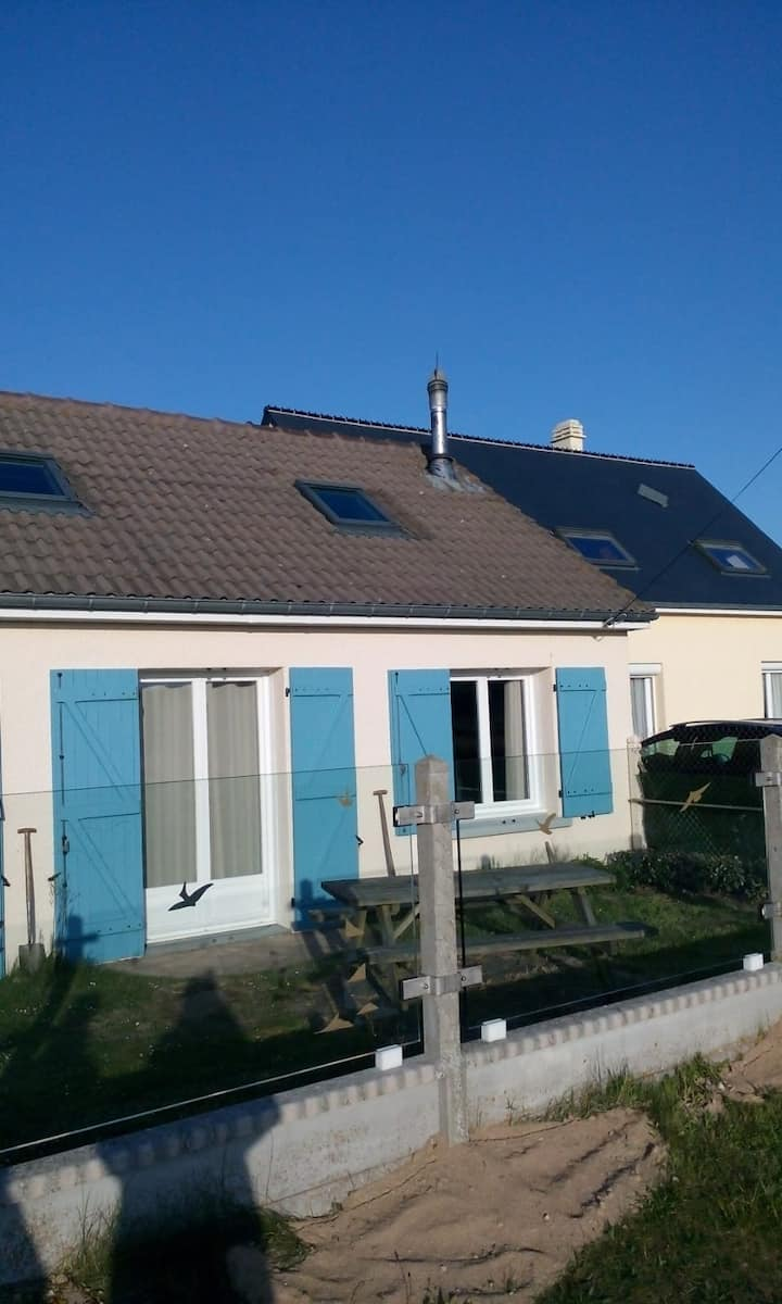 Gezellig huis op 50 meter van het strand