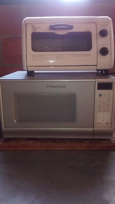 el microondas, nevera, el baño , la sala de tv y  el horno son compartidos
