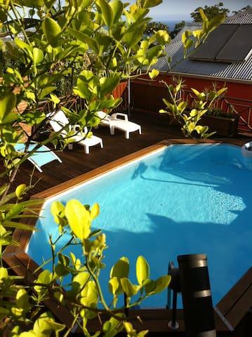 villa récente piscine et vue mer - Les Avirons - Casa