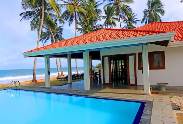 """Hikkaduwa Ocean Front  """"The Palms Villa"""""""