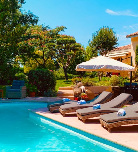 1) Summer is coming. Time to relax by the pool.