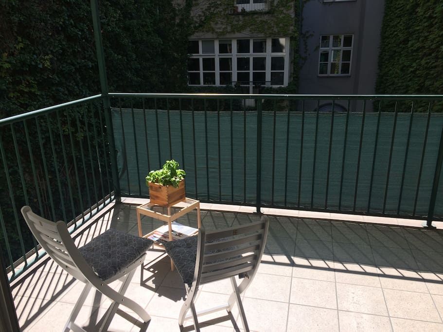 Very quiet and spacious  balcony
