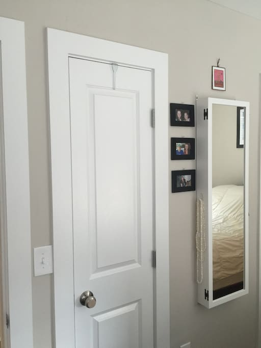 Closet for guest use