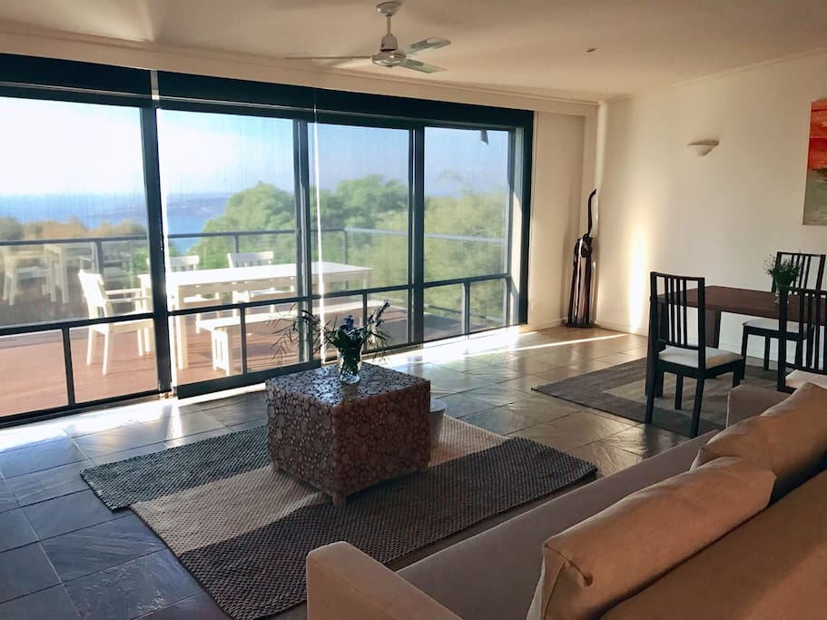 Ocean view from the open plan living / dining / kitchen