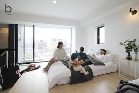 bhotel801 New Apt in Famous Hiroshima Dori for 6p