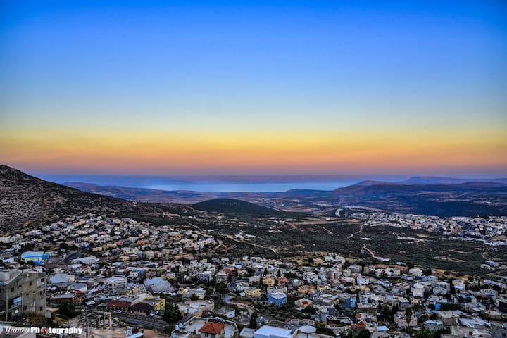 Emily penthouse(Luxury): Galilee&Golan mount view.