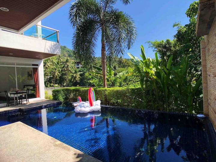 止观·卡伦海景现代风格三卧室泳池别墅·步行卡伦卡塔海滩配套超方便