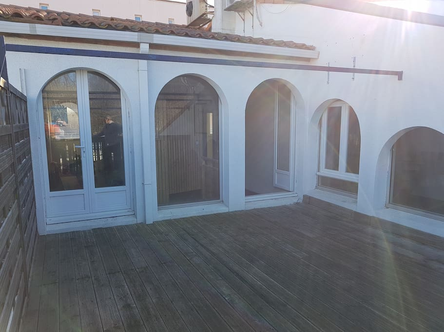 Terrasse : salon de jardin