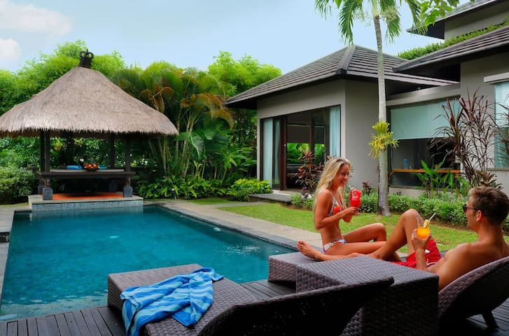 2BR pool villa with B'fast for having fun in Bali