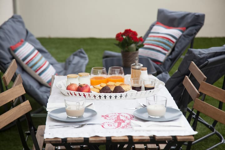 Bring your favorite breakfast and enjoy it in the morning terrace