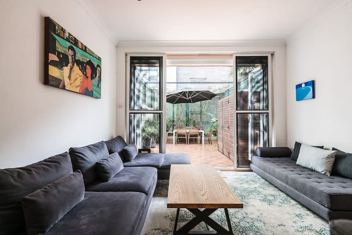 Surry hills ideal: 2 double rooms in terrace house