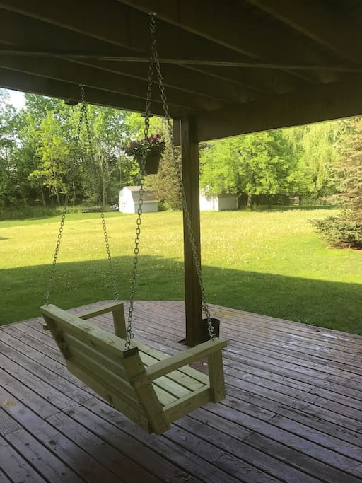Deck with swing