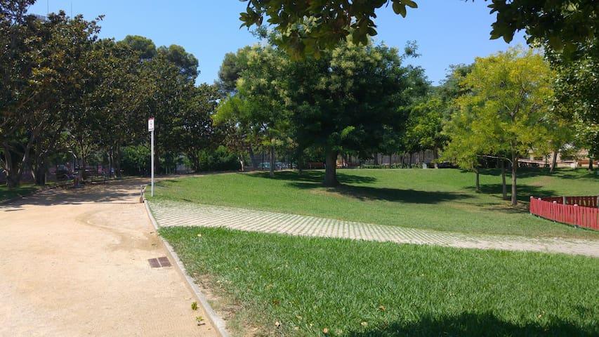 Park near Camp Nou