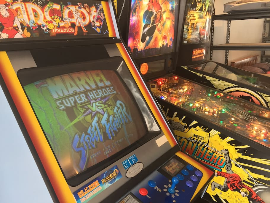 Arcade machine with over 500 games,