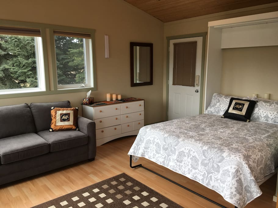 """Queen size murphy bed with 11"""" Sealy Mattress"""