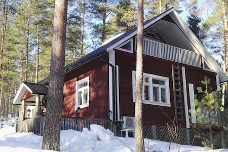 Tunnelmallinen loma-asunto Keski-Suomessa