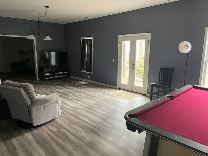 Large private basement with shared amenities