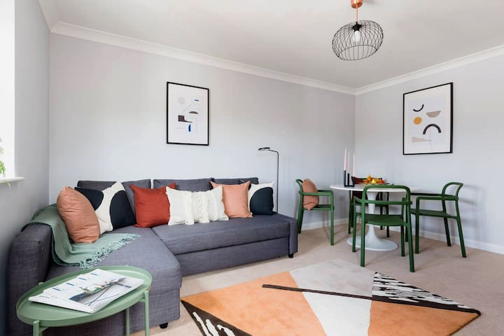 Living/Dining with sofa bed