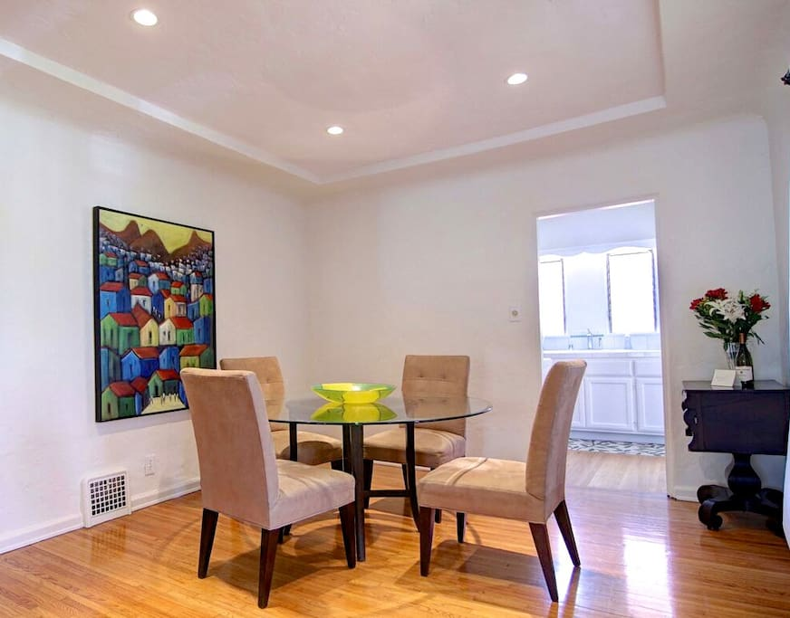 Formal dining room. Seats 6. Great for entertaining.