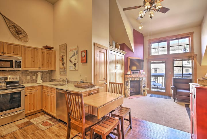 Keystone Village Slopeside Studio w/Hot Tub Access