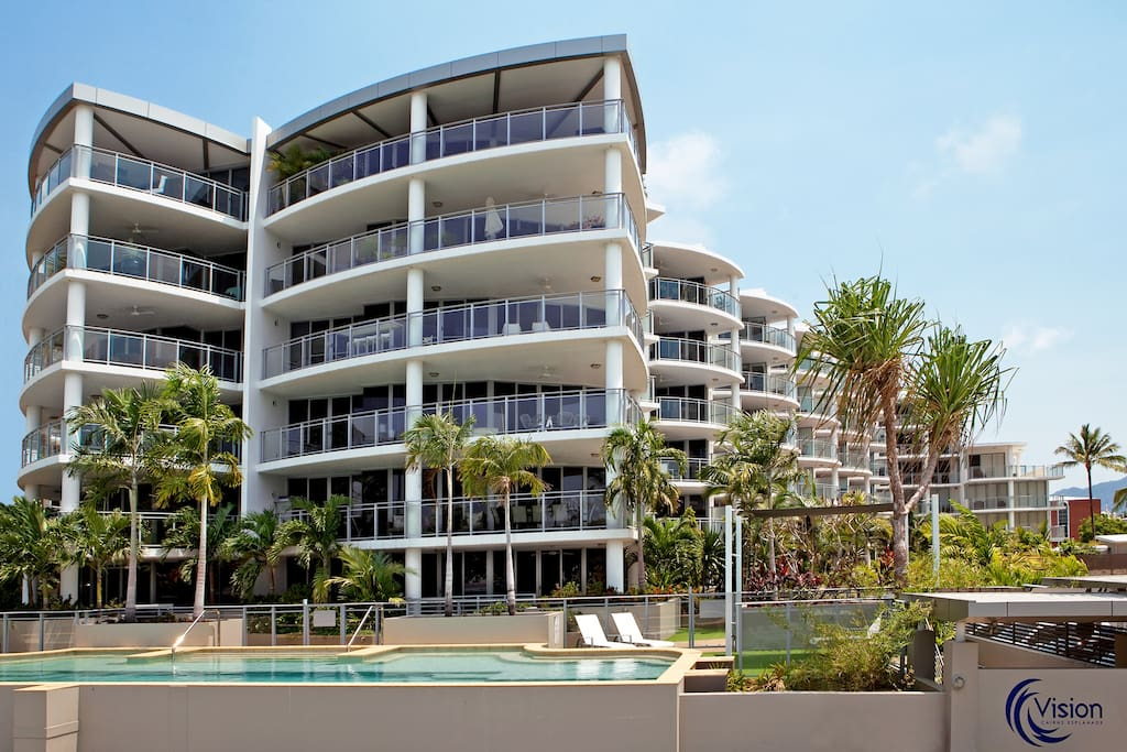 Our Apartment is located in Vision Cairns right on the Esplanade
