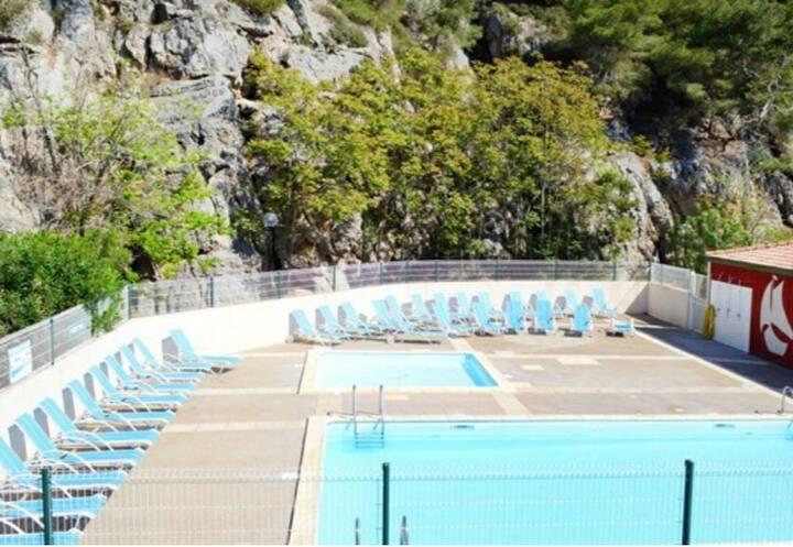 Narbonne plage Maison bord de mer jardin + piscine