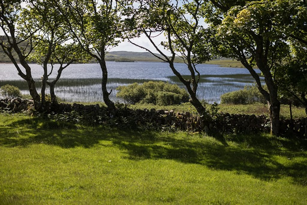 A loch at the end of the garden