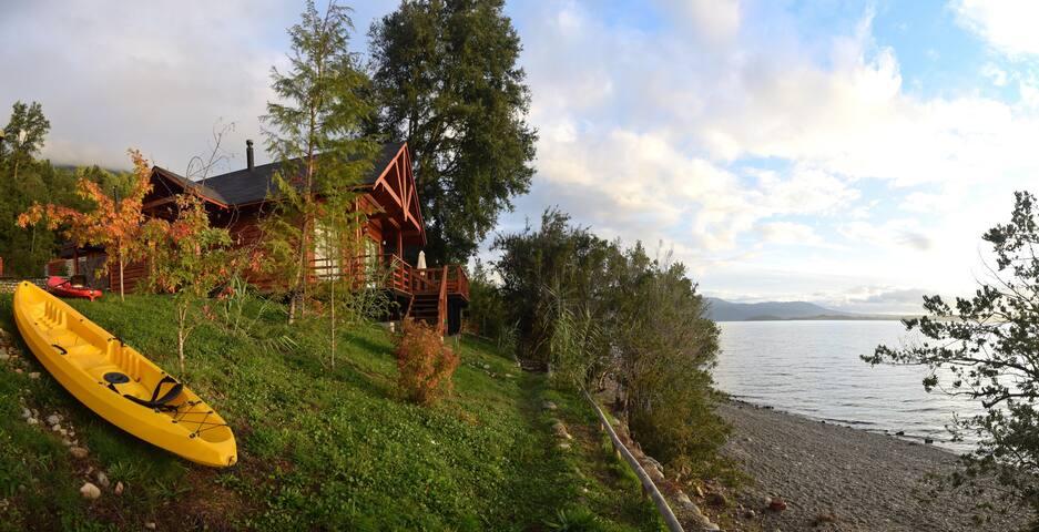 Borgolafquen cabañas orilla de Lago
