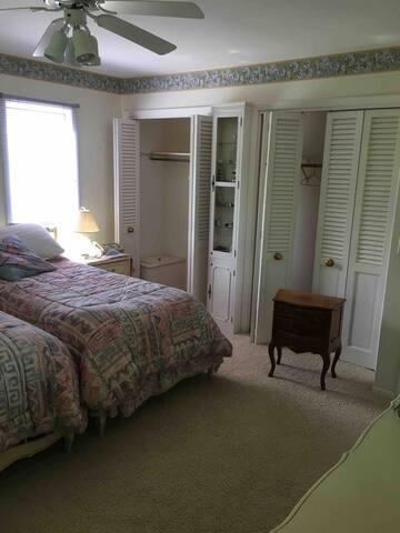 Bedroom Two - two single beds - sleeps 2.  Has its own bathroom.