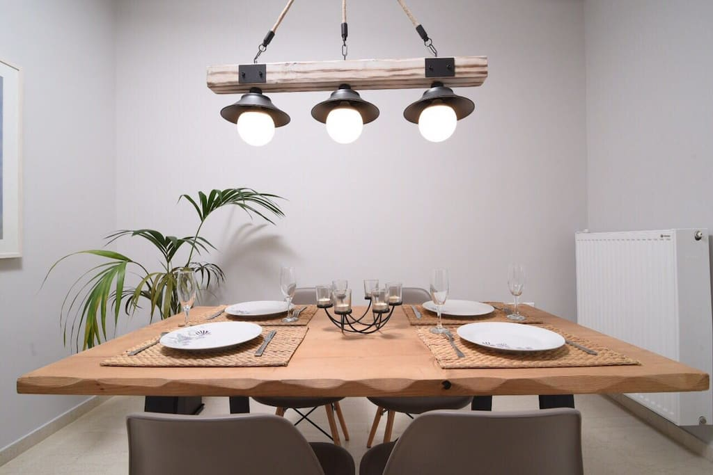 Dinning room set for lunch and dinner
