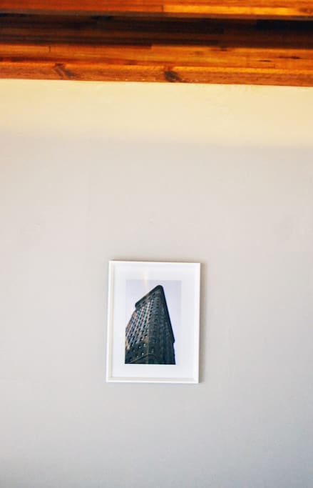 We love photography and have photos of our trip to the big apple (NYC) up on the wall.